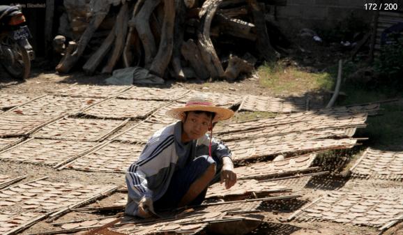 Myanmar Reisebericht - Sonnenschirmherstellung