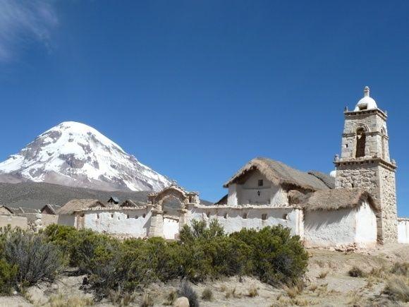 Die Kirche im verschlafenen Dorf Sajama