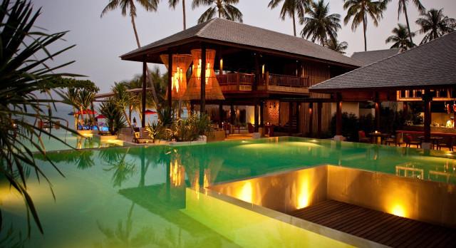 Outdoor area of Anantara Rasananda Koh Phangan Villas in Koh Phangan, Thailand