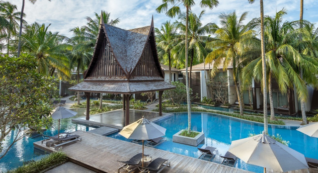 Pool at hotel Twinpalms in Phuket, Thailand