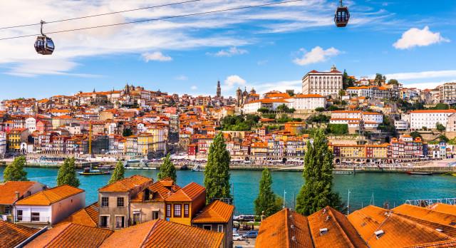 Porto, Portugal old town on the Douro River.