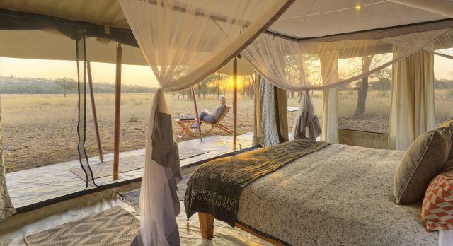 Enchanting Travels Tanzania Tours Serengeti Hotels ubuntu-camp-guest-tent-interior-(1)