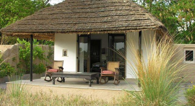 Enchanting Travels -North India Tours -Ranthambore - Khem Villas -terrace
