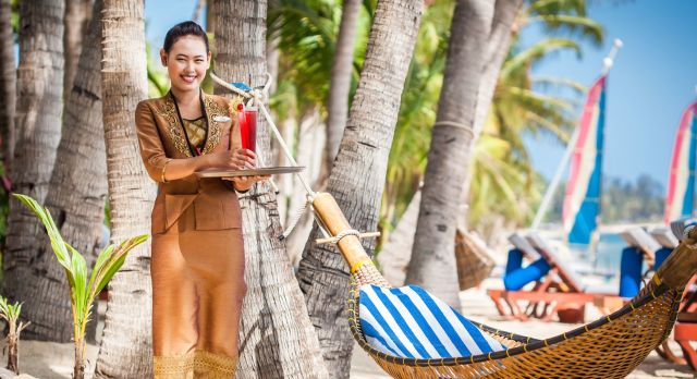 Entspannen am Strand von Koh Samui