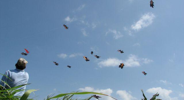 Kitesurf-Wettbewerb in Indonesien