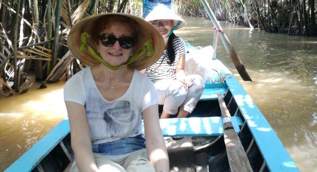 Unterwegs auf dem Boot in Kambodscha