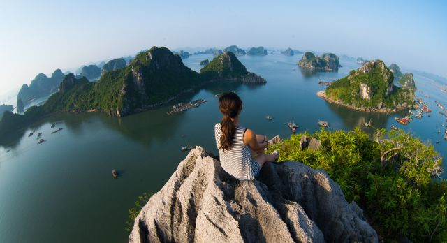 Halong Bay or Mekong Delta: Aerial view of the bay