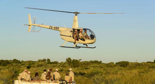 The rhino crew in action- luxury African safari