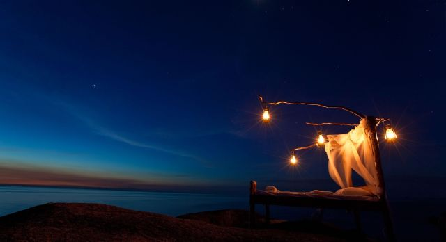 Starbeds under the night sky on your luxury African safari