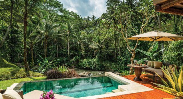 Enchanting Travels Indoensia Tours Bali Hotels Four Seasons Sayan pool villa at daytime