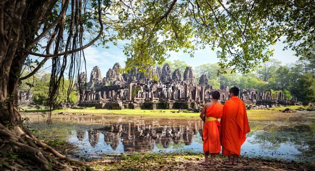 Angkor Wat from a distance