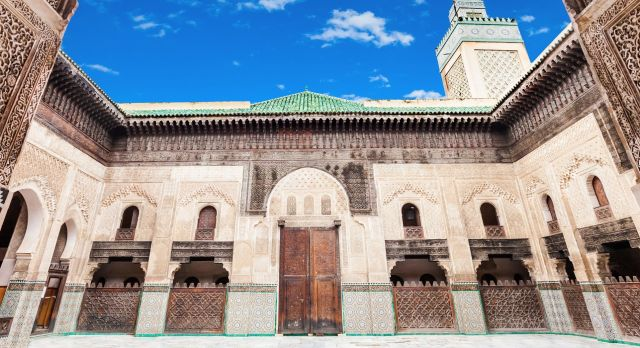 Medersa Bou Inania of Fes in Morocco