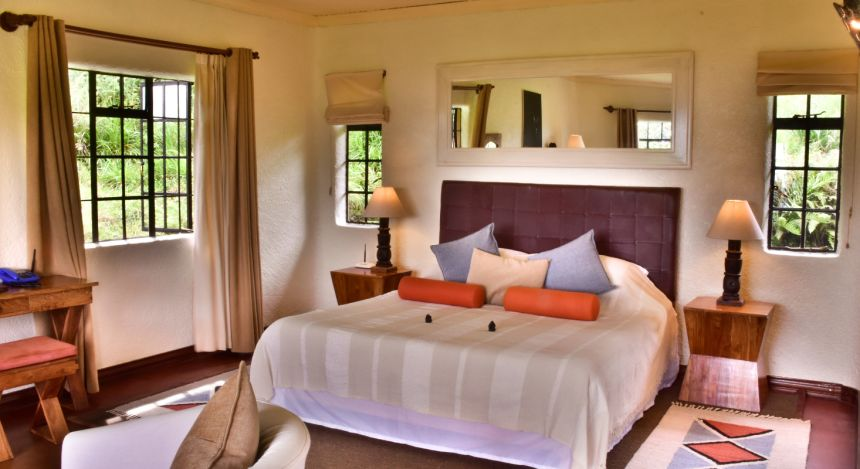 Zimmer im Sabyinyo Silverback Lodge Hotel in Ruanda, Volcanoes Nationalpark