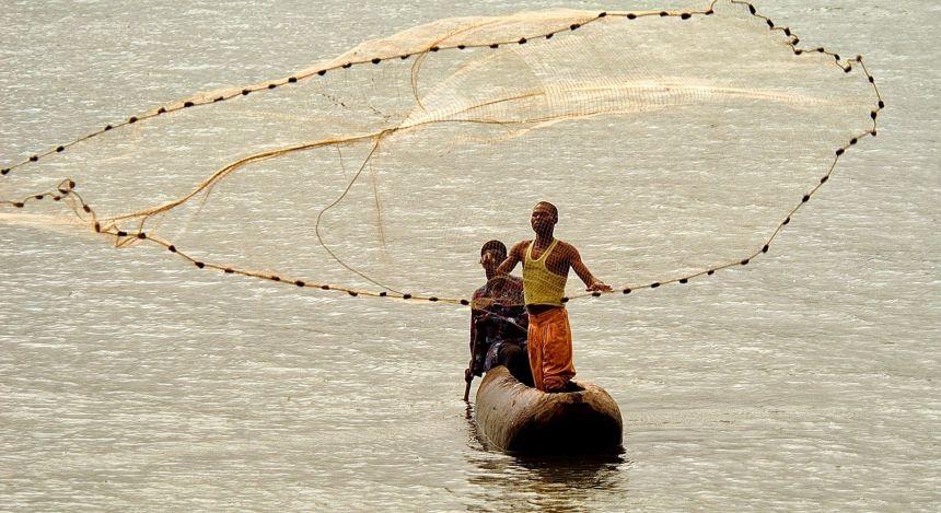 Fischer auf dem Malawi See