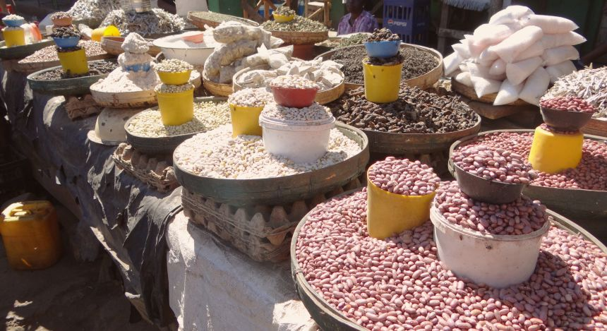 Marktstand in Sambia