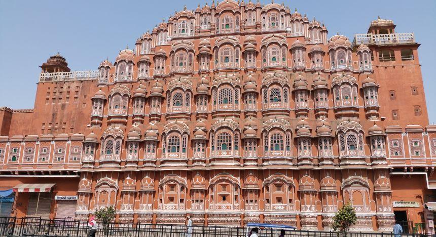 Der Palast der Winde in Indien