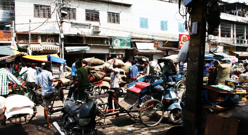 Straßen von Delhi, Nordindien
