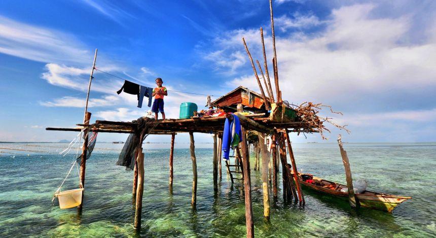 Fischerhütte in Malaysia