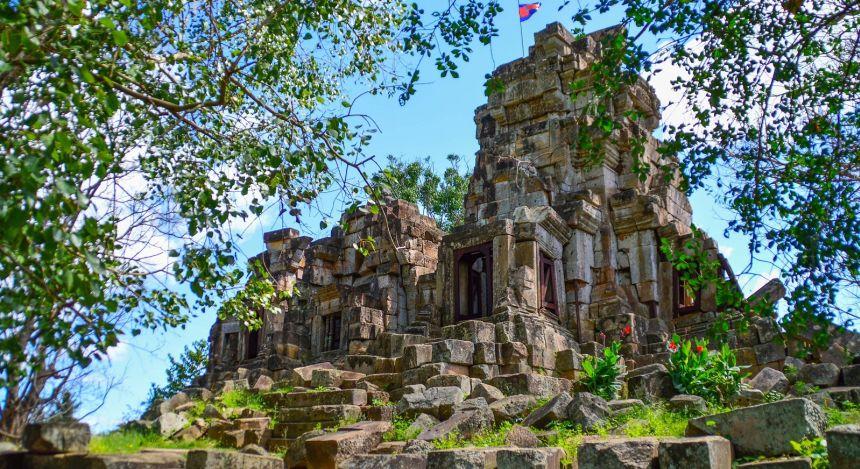 Verwitterte Ruinen aus Stein