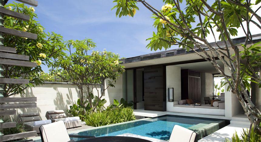 Villa mit Pool im Alila Villas Uluwatu auf Bali
