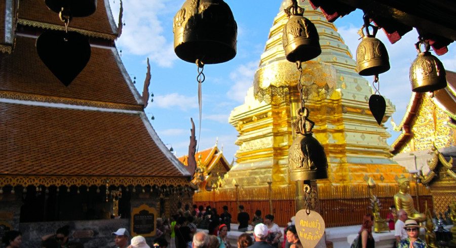 Goldener Tempel in Chiang Mai