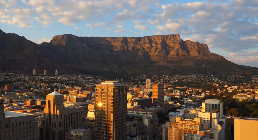 Der Tafelberg ist das Wahrzeichen Kapstadts