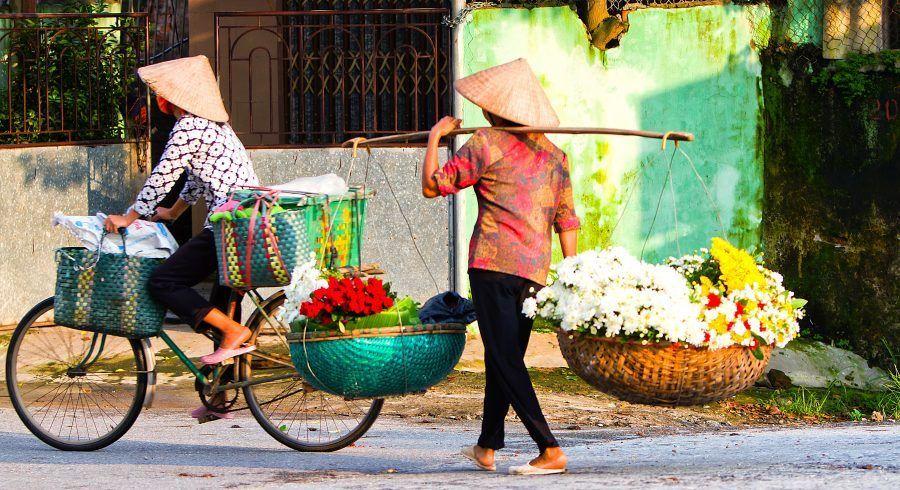 Straßenhändler in Vietnam