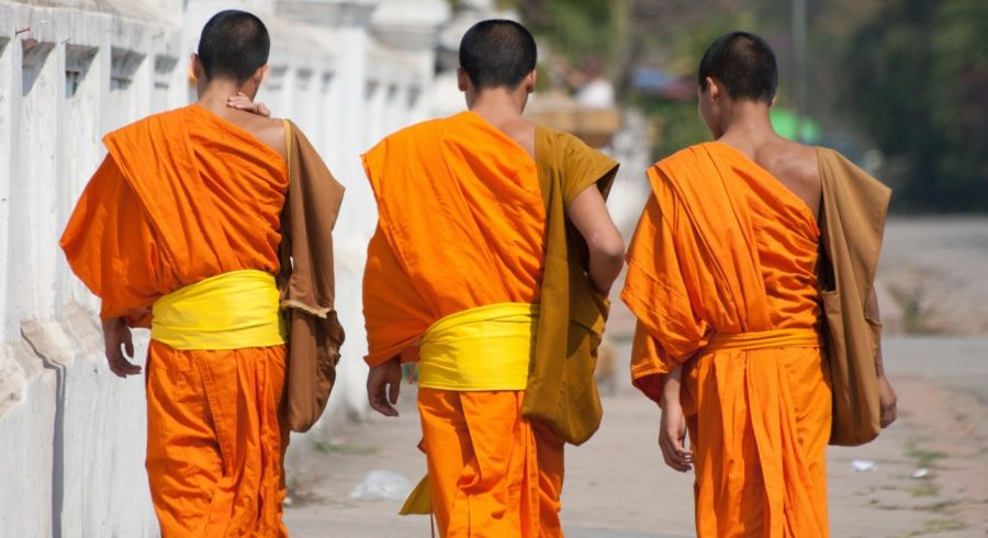 Buddhist monka in Luang Prabang