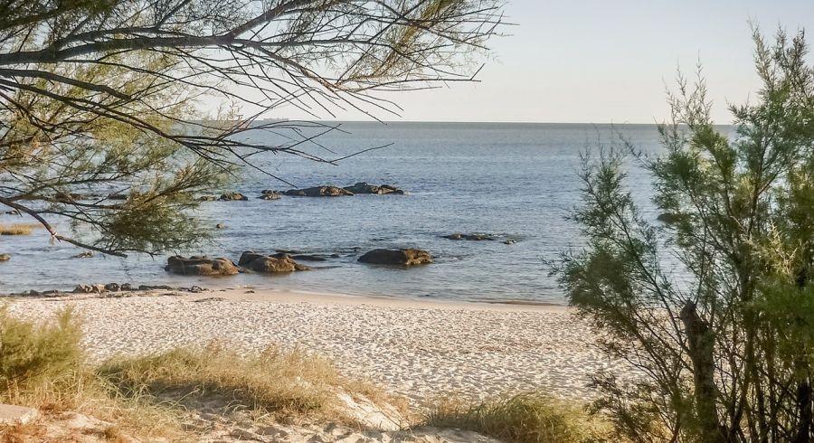 Ein versteckter Strand in Uruguay