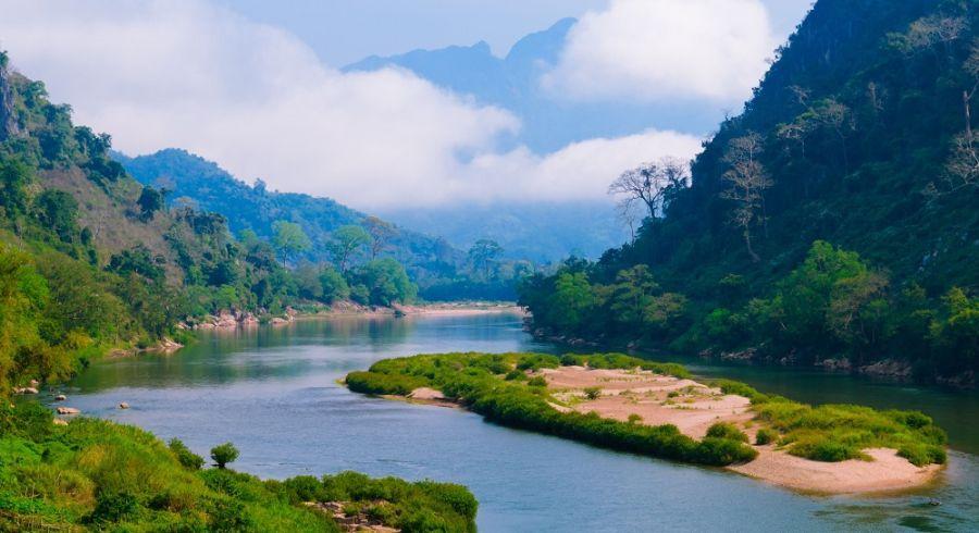 Asia Laos Nong Khiaw Landscape