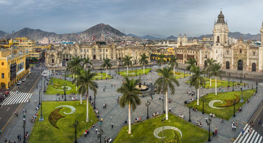Die Plaza Mayor in der Altstadt von Lima