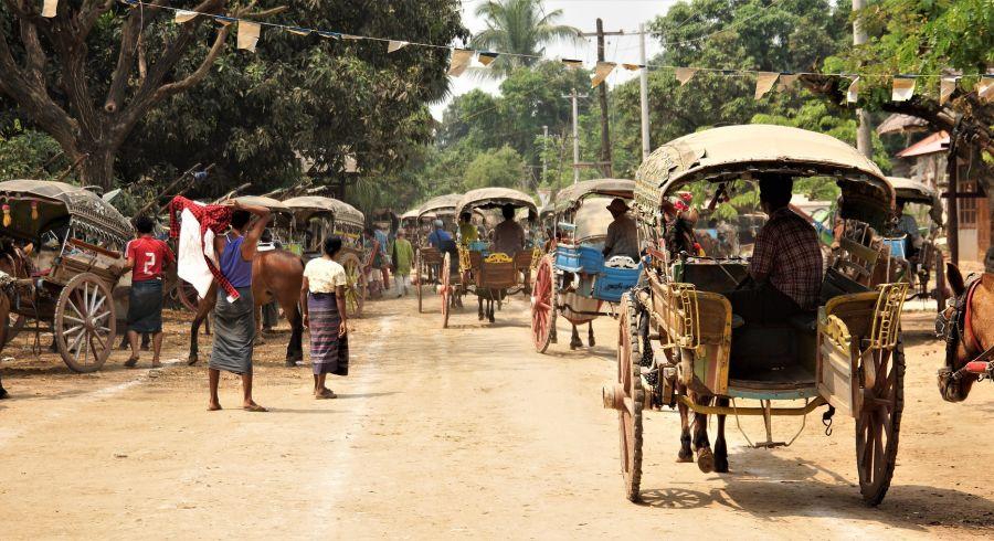 Rikschas in Myanmar