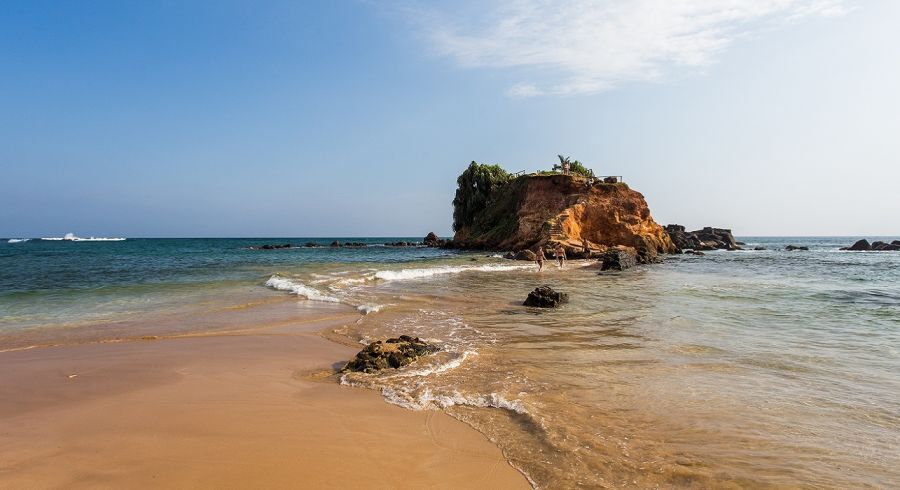 Mirisa Strand in Sri Lanka