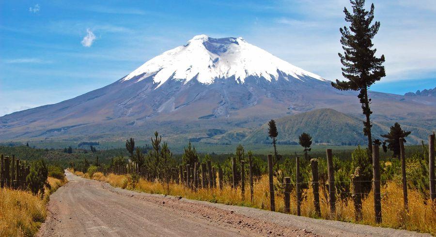 Der Cotopaxi Vulkan in Ecuador