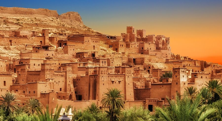 Kasbah Aït Benhaddou in the Atlas Mountains of Morocco is a typical example of Berber architecture.