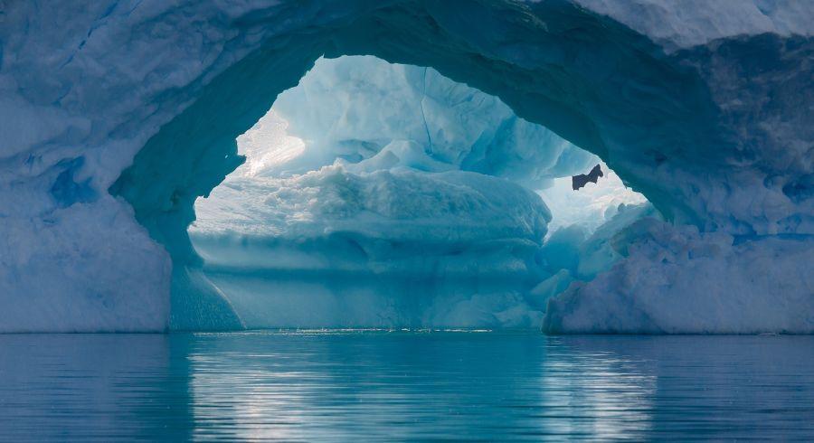 Enchanting Travels Antarctica Tours blue iceberg closeup