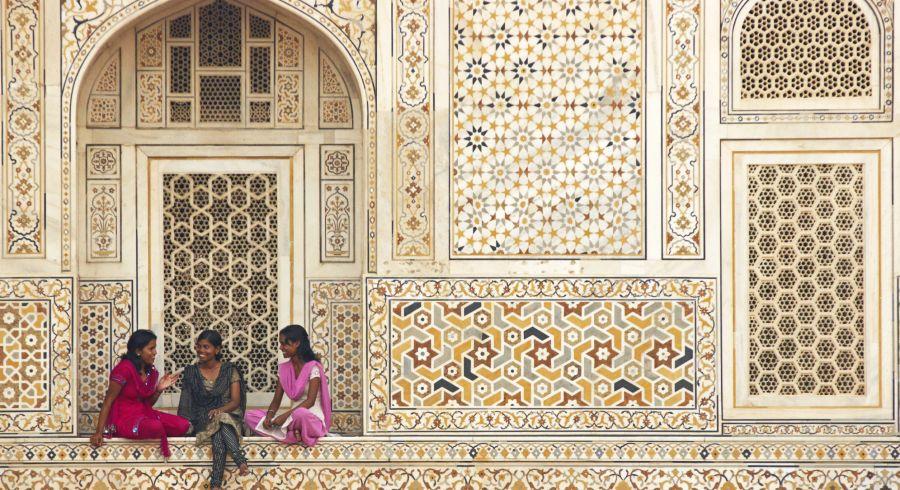 At the Taj Mahal
