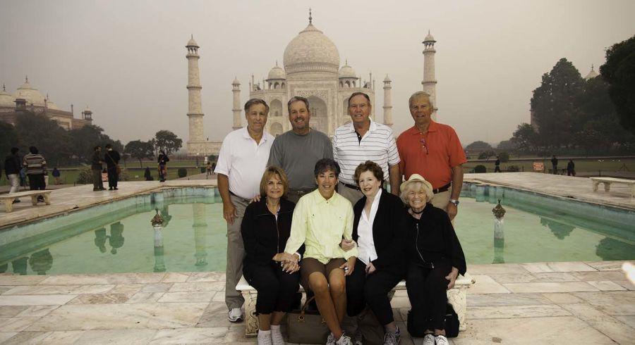 Enchanting Travels guest Gary Bard at the Taj Mahal