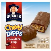 Quaker  Cereal Bars Chewy Dipps Chocolate Chip Granola