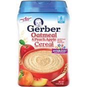 Gerber Oatmeal & Peach Apple Cereal