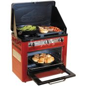 Camp Chef Oven 2 Burner Camping Stove Non-Stick Griddle Red