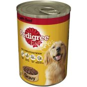 Pedigree Dog Tin with Beef in Gravy