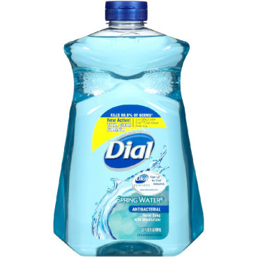 Dial Antibacterial Hand Soap with Moisturizer Refill Spring Water Scent