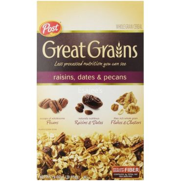 Post Selects Great Grains Raisin Date & Pecan Whole Grain Cereal