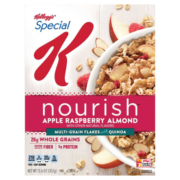 Kellogg's Special K Nourish Cereal Apple Raspberry Almond