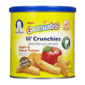 Gerber Graduates Lil' Crunchies Baked Whole Grain Corn Snack Apple & Sweet Potato