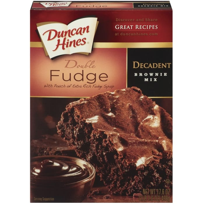 Duncan Hines Dark Fudge Chunck Decadent Brownie Mix