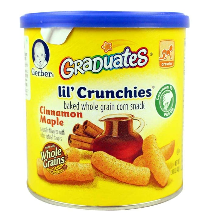 Gerber Baby Biscuits Graduates Lil Crunchies Cinnamon Maple