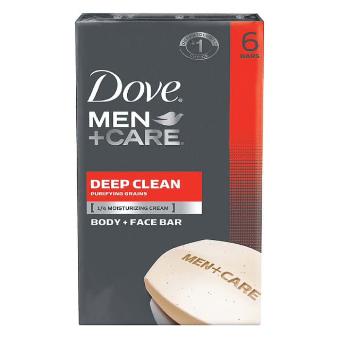 Dove Men+Care Deep Clean Body and Face Bar 6 Bars