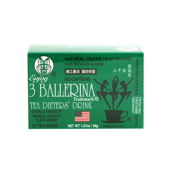 3 Ballerina Tea Dieters Drink for Women & Men - No Caffeine